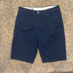 Men's Dark Blue Volcom Chino Shorts-size 30